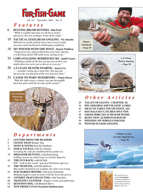 Fur fish game magazine the hunting fishing fur for Nd game and fish stocking report
