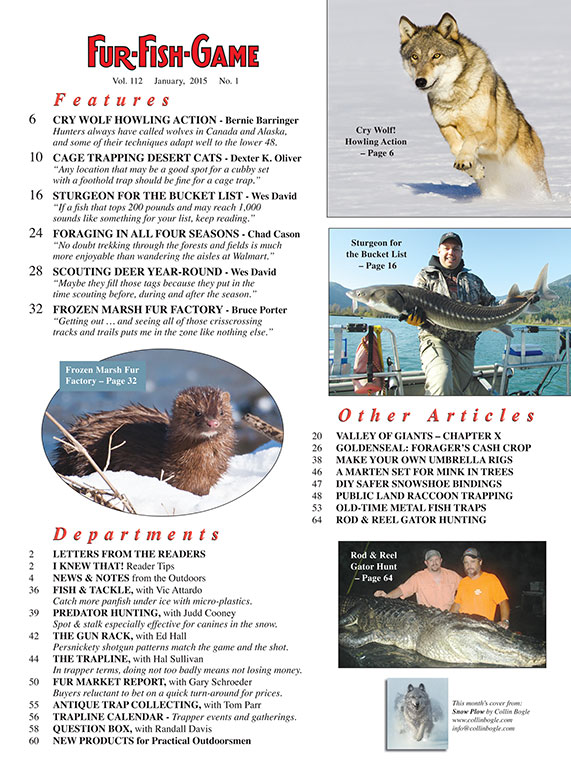 Fur fish game magazine january 2015 for Fur fish and game