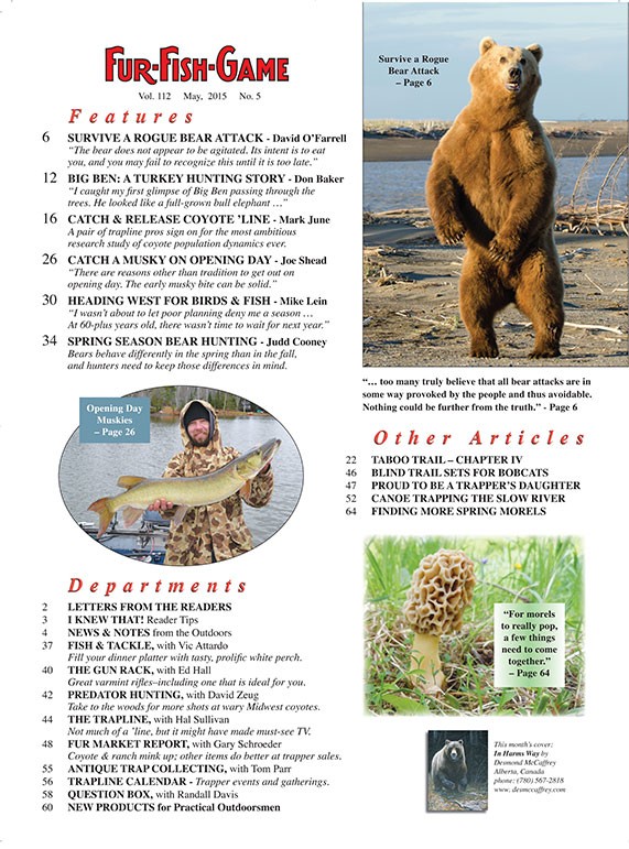 Fur fish game magazine may 2015 for Fur fish and game