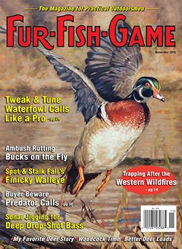 Fur fish game magazine november 2015 for Fur fish and game