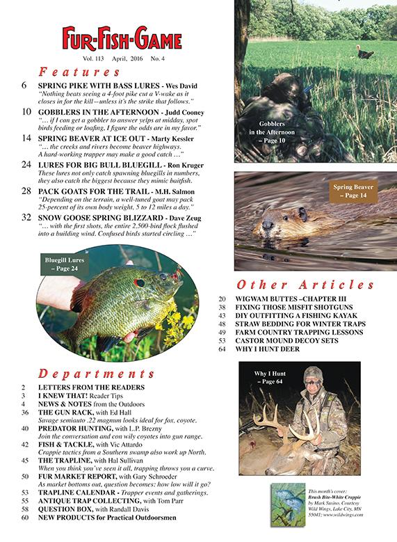 Fur fish game magazine april 2016 for Fur fish and game