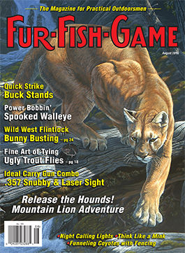 Fur fish game magazine august 2016 for Fur fish and game
