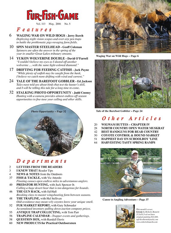 Fur fish game magazine may 2016 for Fur fish and game