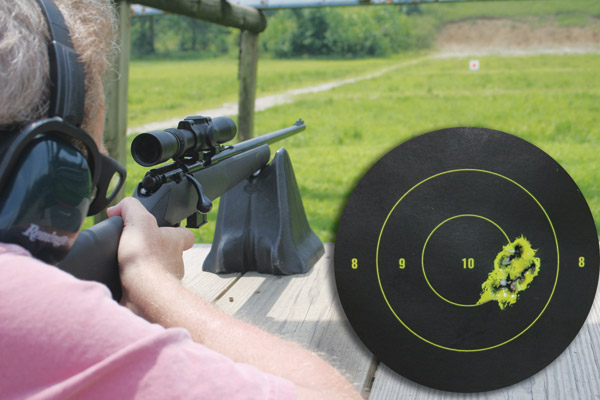 Sighting in a .22 rifle
