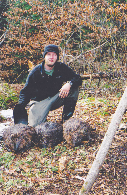 Toby with adirondack beaver