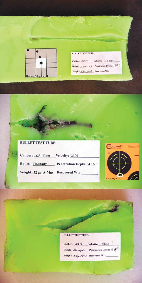Ballistic Gel Tube Results