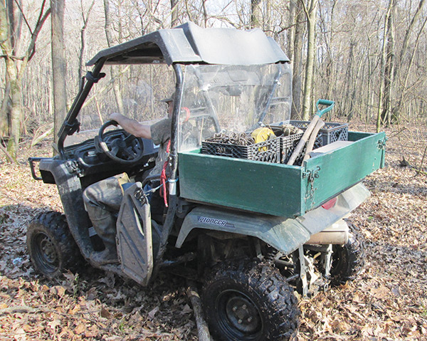 ATV equipped for trapping