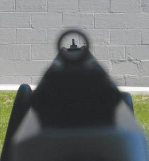 Marlin peep sight from eye level