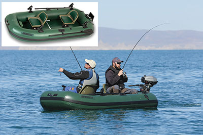 Sea Eagle Hunter Green Stealth Stalker inflatable fishing boat