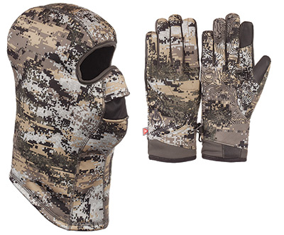 Huntworth disruption camouflage hunting glove and balaclava