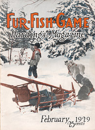 March 1929 trapper and dogsled