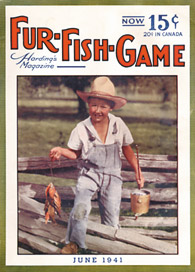 June 1941 Boy with stringer of panfish