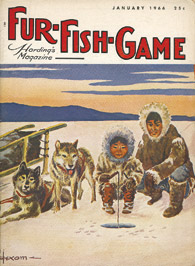 January 1966 Eskimos ice fishing