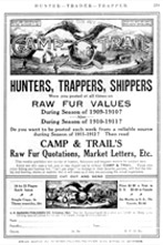 Hunters, Trappers, Shippers: Camps & Trails