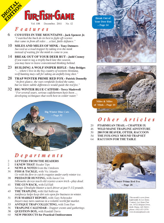 December 2011 fur fish game index page for Fur fish and game